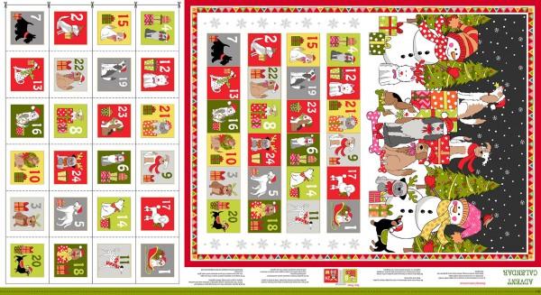 Makower Yappy Dog Advent 2368